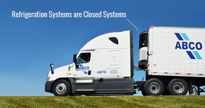 Refrigeration Systems are closed systems