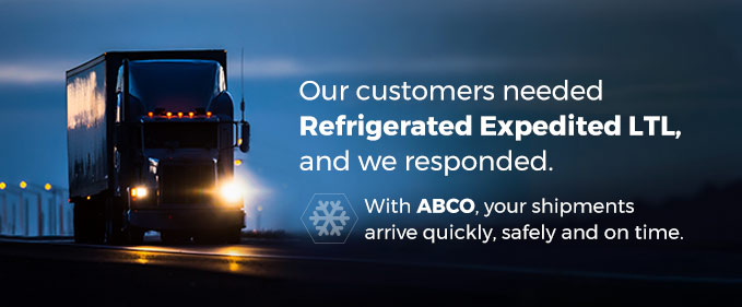 Refrigerated Expedited LTL Service